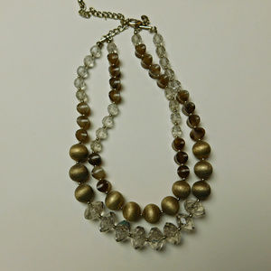 Chico's Double Strand Chunky Beaded Necklace
